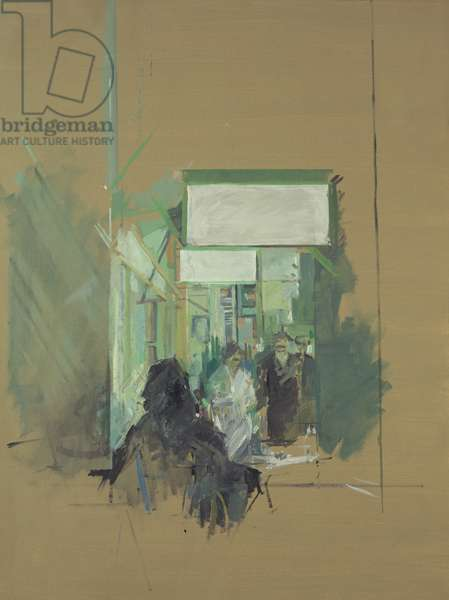 Cretan Market, Iraklion (oil on paper)