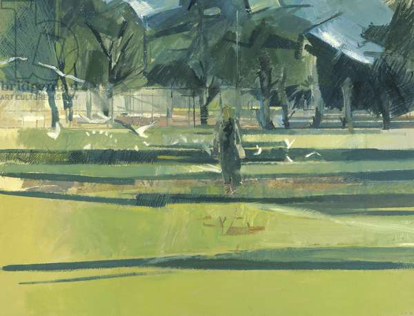Figure, Tooting Common, 1992 (oil on paper)