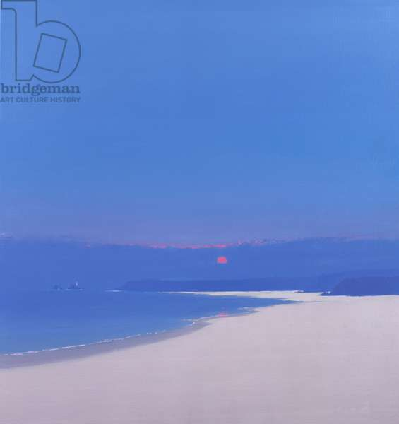 Sun Rising over the Bay, 1999 (oil on canvas)