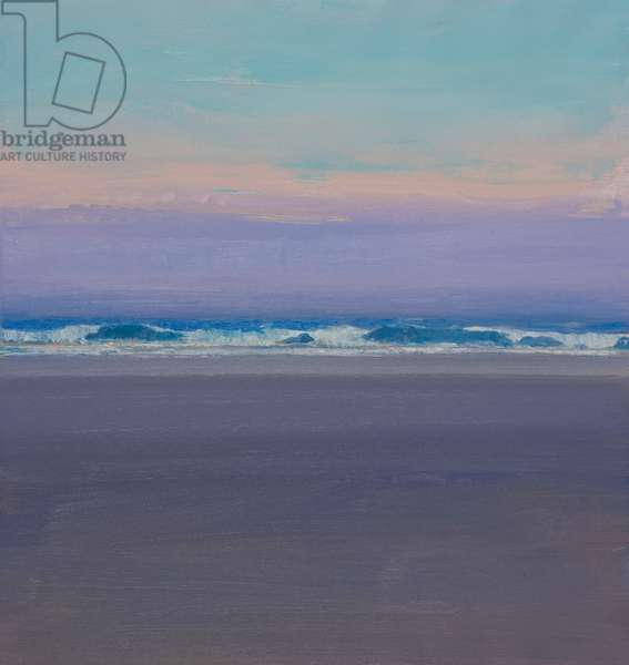 Evening Waves (oil on canvas)