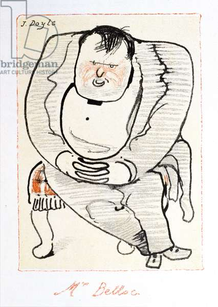 Mr Belloc, illustration from 'The Winter Owl', published by Cecil Palmer, London, 1923 (colour litho)