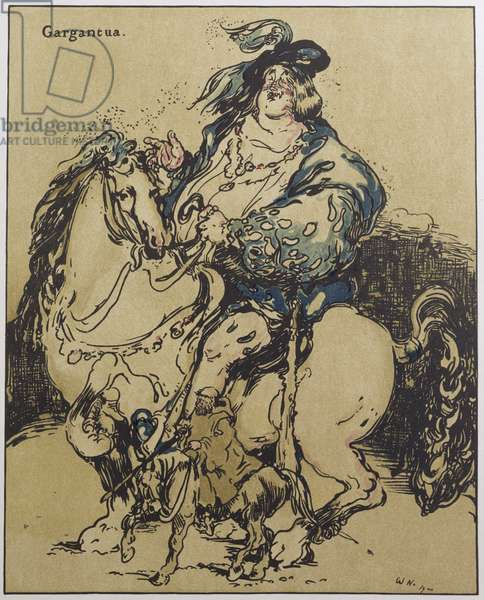 Gargantua, illustration from 'Characters of Romance', first published 1900 (colour litho)
