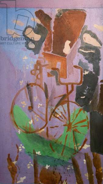 The bike, by Georges Braque, 1961 - 1962, 20th Century, oil on canvas,  147,5 x 99 cm