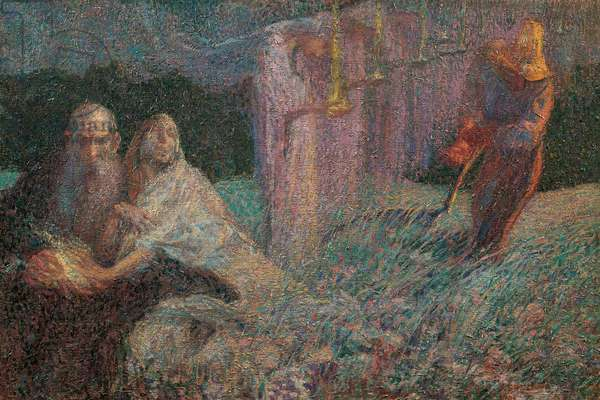 The Mower, 1909 (oil on canvas)