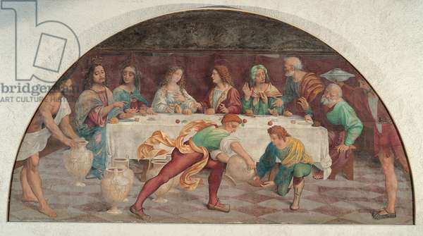 The Wedding at Cana, 1519 - 1524 (arched fresco transferred to canvas)