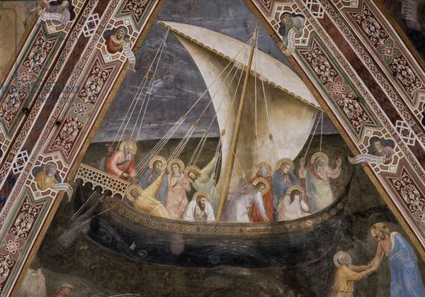 Rib Vault with the Navigation of St. Peter, 1365-1367 (fresco)