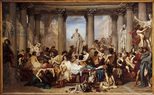 Romans of Decadence, by Thomas Couture (1815-1879), 1847 (oil on canvas)