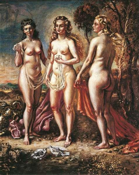 The Judgement of Paris (Il giudizio di Paride), by Giorgio de Chirico, 1940, 20th Century, oil on canvas , 100 x 140 cm