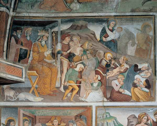 Massacre of the Innocents and Flight into Egypt, (fresco)