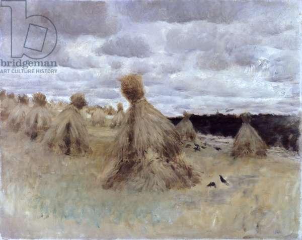 Hay Field (Campo di biche), by Giuseppe De Nittis, 1875, 19th Century, oil on canvas, 66 x 84 cm