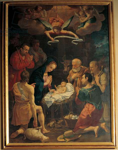 Adoration of the Shepherds, (oil on canvas)