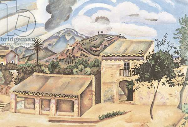 Tileworks at Mont-roig (Tuilerie à Mont-roig), by Joan Mirî, 1918, 20th Century, oil on canvas, 65 x 81 cm