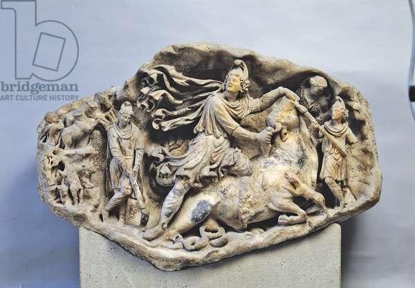 Relief of Mithras (Rilievo di Mitra), 150-200, 2nd Century, marble relief, 61 cm