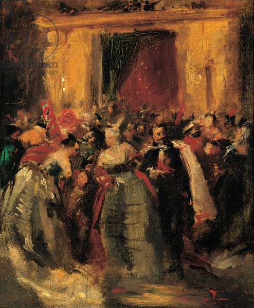 Costume Ball at the Tuileries Palace, 1867 (oil on canvas)