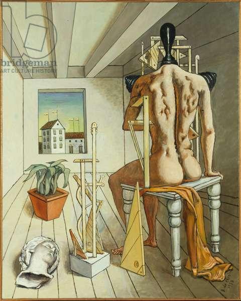 The Muse of Silence (La musa del silenzio), by Giorgio De Chirico, 1973, 20th century (oil on canvas)