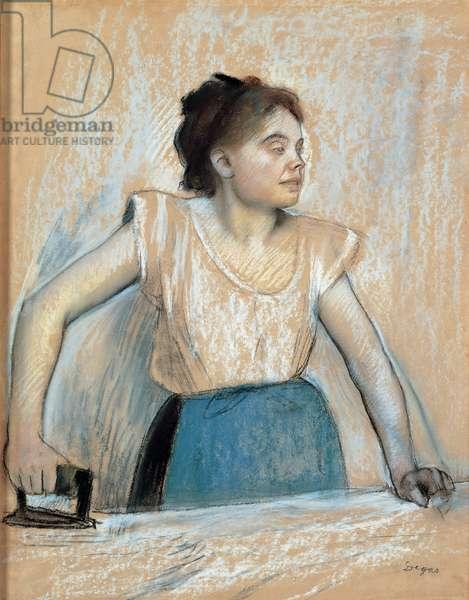 Woman Ironing, 1869 (pastel on paper)
