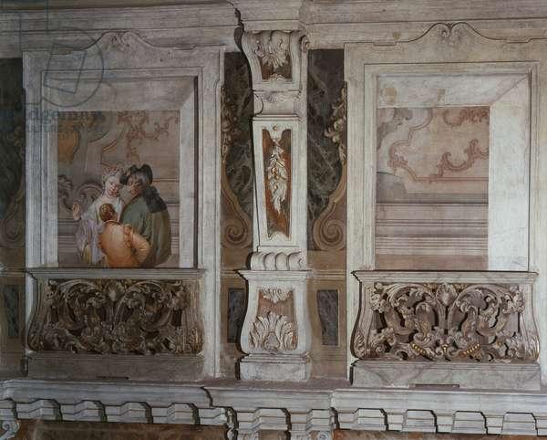 Romantic Scene (Scena galante), by Francesco Zugno, c. 1770, 18th Century, fresco