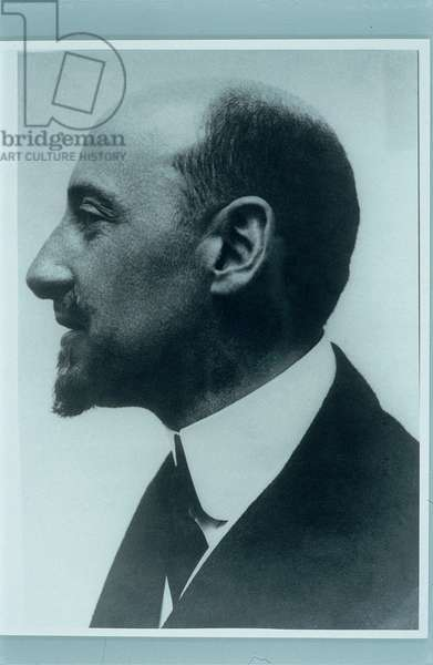Portrait Photo of Gabriele D'Annunzio, (photograph b/w)