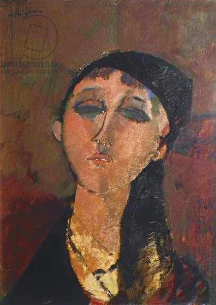 Louise, by Amedeo Modigliani, 1915, 20th Century, oil on cardboard, 51 x 37 cm
