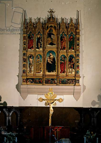 God the Father, the Madonna and Child and Saints - the Arcevia Polyptych,