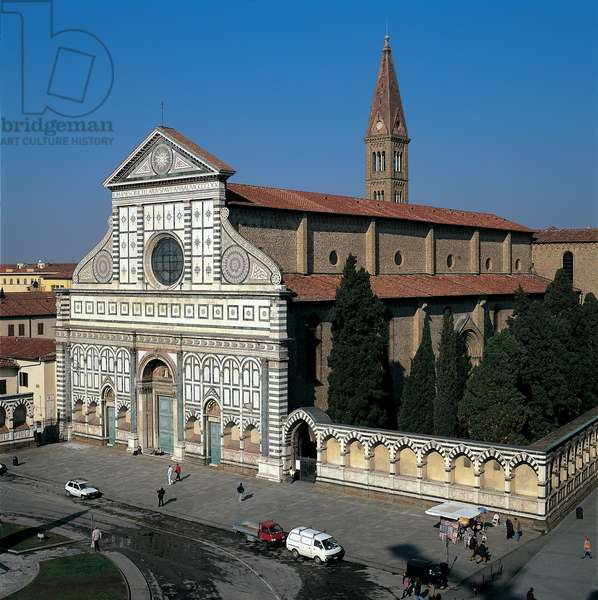 Santa Maria Novella Church - Florence, 1246 (polychrome marble on front)