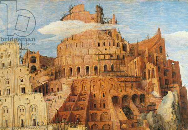 The Tower of Babel, by Pieter Bruegel the Elder, 1563, 16th Century, oil on wood, 114 x 155 cm