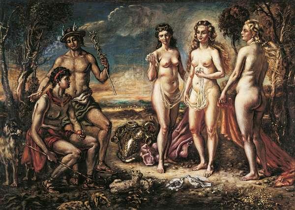 The Judgement of Paris (Il giudizio di Paride), by Giorgio de Chirico, 1940, 20th Century, oil on canvas, 100 x 140 cm