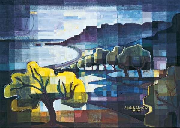 Peschici, 1968 (oil on canvas)