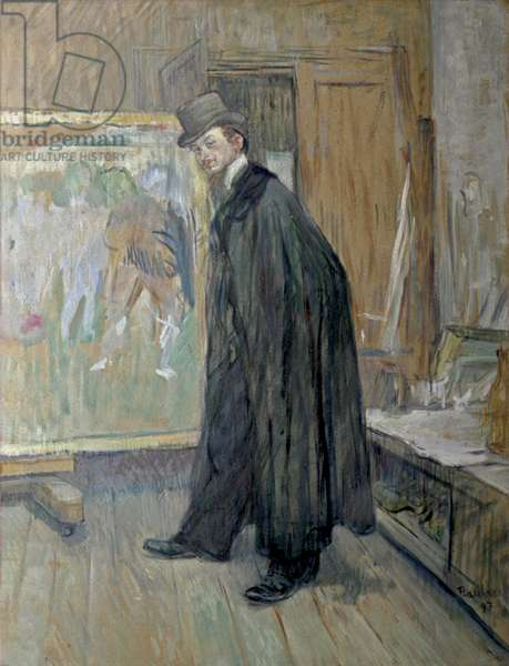 Henri Nocq, by Henri de Toulouse Lautrec, 1897, 19th Century, paint on board, 63,9 x 48,2 cm