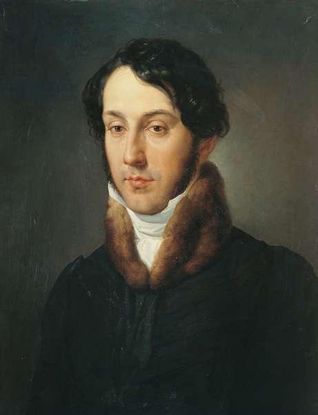 Portrait of a Man (Ritratto d'uomo), by Francesco Hayez, 1833 - 1834, 19th Century, oil on wood, 59 x 44 cm