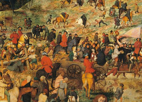 Ascent to Calvary, by Pieter Bruegel the Elder, 1564, 16th Century, oil on wood, 124 x 170 cm