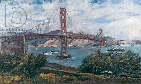 The Golden Gate Bridge in San Francisco (w/c on paper)