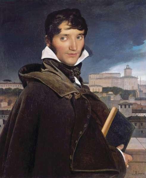 François-Marius Granet's Portrait (Portrait de François-Marius Granet), by Jean Auguste Dominique Ingres, 1807, 19th Century, oil on canvas, 74,5 x 62 cm