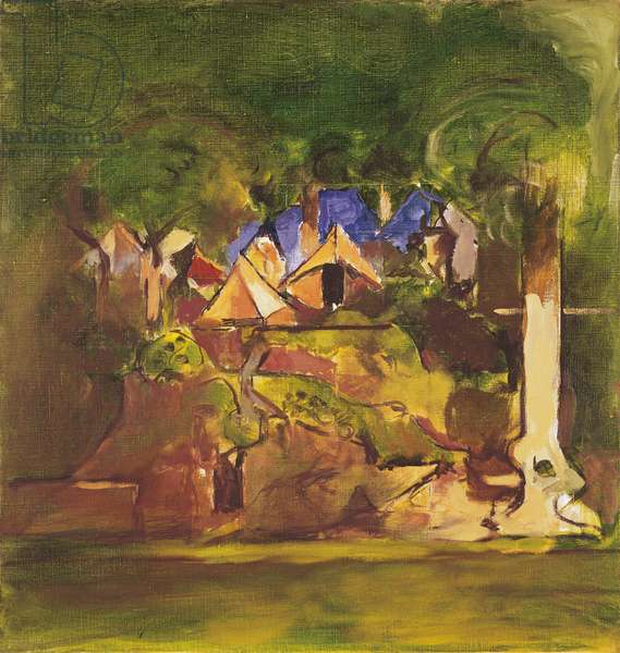 Camping, by Graham Sutherland, 1973, 20th Century, oil on canvas