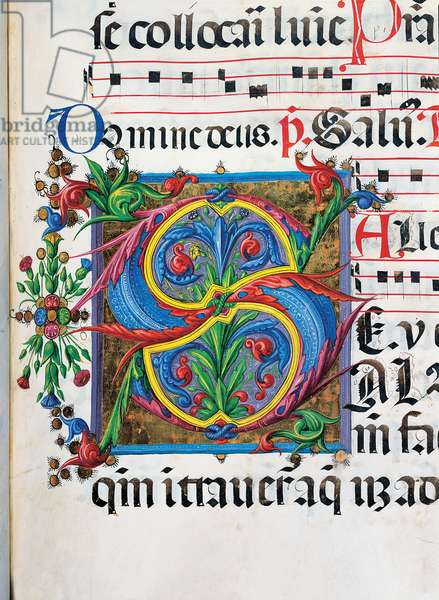 Psalter with weekday holiday day Hymns according to the Roman Curia, 1474 (illuminated manuscript)