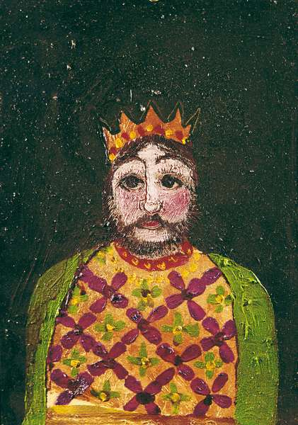 Puppet: The King, 1965 (oil & mixed media on cardboard)