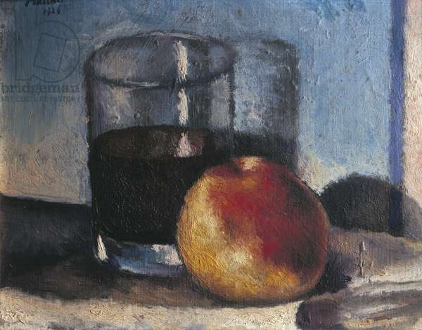 Still Life with Glass of Wine, 1926 (oil on panel)