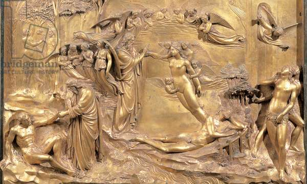 Creation of Adam and Eve, 1425 - 1452 (casting bronze, chased and gilded)