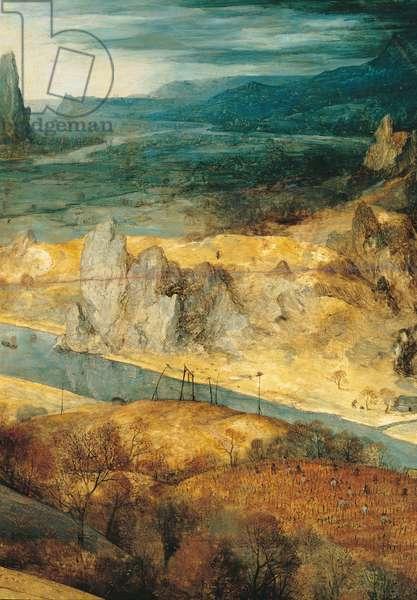 The Return of the Herd (Autumn), by Pieter Bruegel the Elder, 1565, 16th Century, oil on wood, 117 x 159 cm
