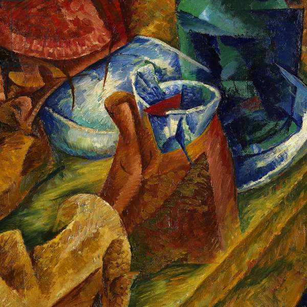 The Drinker, by Umberto Boccioni, 1914, 20th Century, oil on canvas, 87.5 x 87.5 cm