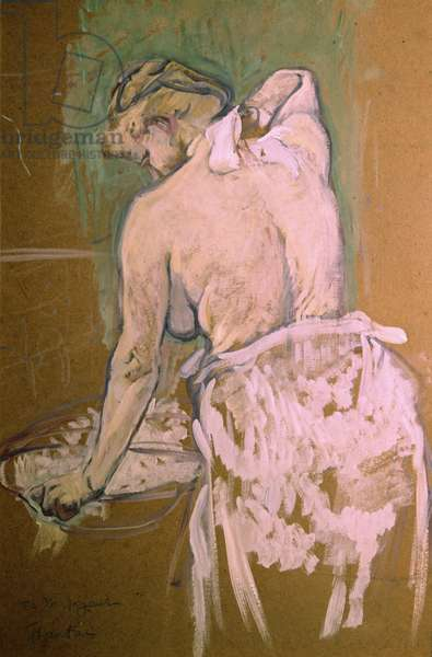 Toilette, by Henri de Toulouse-Lautrec, 1896, 19th Century, oil on cardboard, 58 x 40 cm