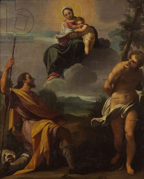 The Virgin and Saints Rocco and Sebastiano, by Carlo Boononi, begin of the 17th Century, oli on canvas