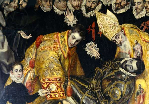 The Burial of the Count of Orgaz, 1586 (oil on canvas)