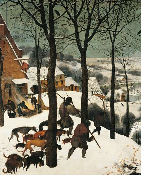 The Hunters in the Snow, by Pieter Bruegel the Elder, 1565, 16th Century, oil on wood, 117 x 162 cm