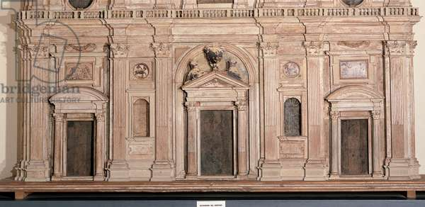 Facade model of Santa Maria del Fiore, Florence, 1635 (painted wood and polychrome wax)