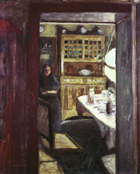 Interior, by Pierre Bonnard, 1890 - 1892, 19th Century, oil on canvas, 98 x 46 cm