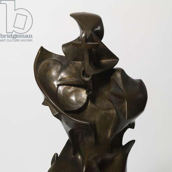 Unique Forms of Continuity in Space (Forme uniche della continuità nello spazio), by Umberto Boccioni, 1913 (1931), 20th Century, bronze, 112 x 40 x 90 cm