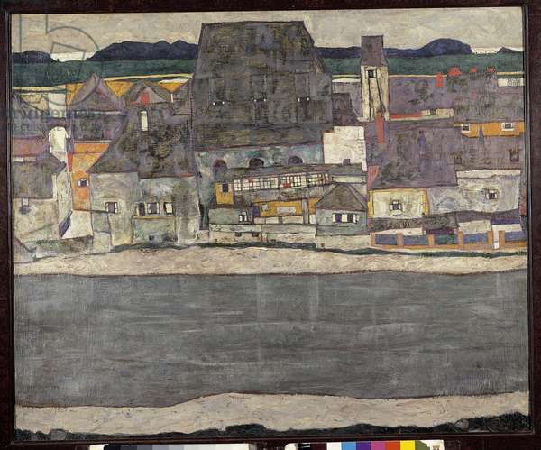 Houses on the River (The Old Town), 1914 (oil on canvas)