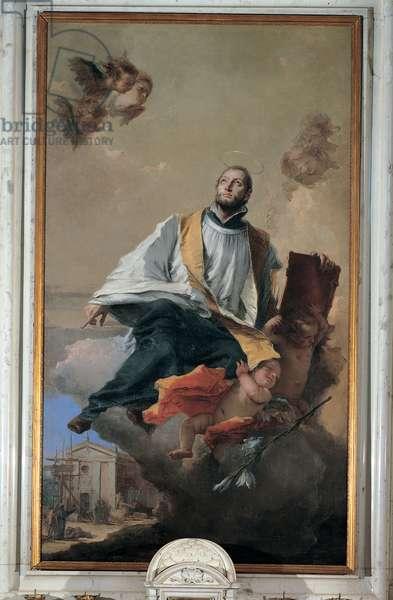 The Apotheosis of St Gaetano Thiene, 1757 (oil on canvas)
