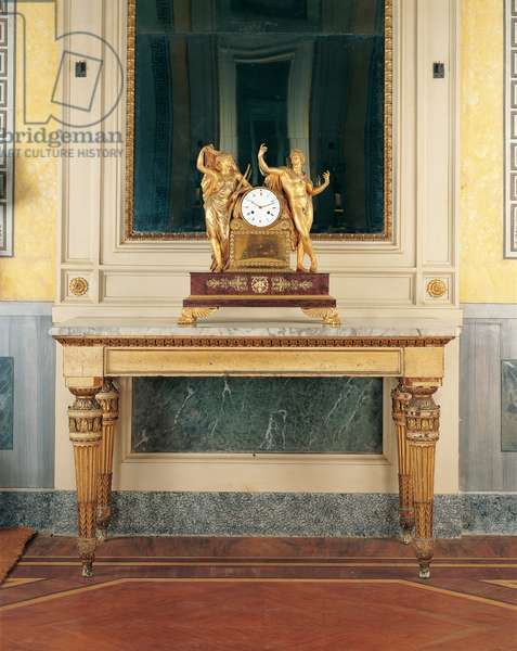 Consolle table (Consolle), by Milanese manufactury, 18th Century, wood with marble top